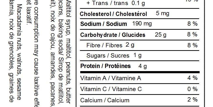 No Sugar Added Mixed Nut Brittle